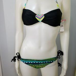Raisins Women Swimsuit 2Pc Bandeau Sz S